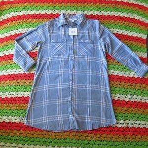JACK BY BB DAKOTA SEYMOUR SOFT PLAID SHIRT DRESS